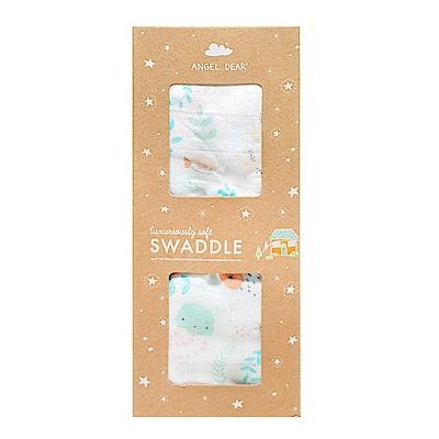 美國 Angel Dear 竹纖維嬰幼兒包巾禮盒 (小水母)