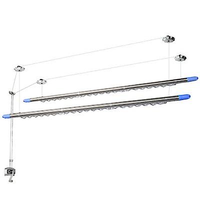 CB008-1 雙桿式升降曬衣架(含桿)雙孔手搖式升降晒衣架 手搖式升降