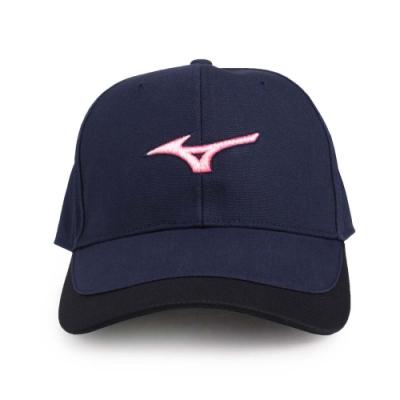 MIZUNO 運動帽 丈青白紅
