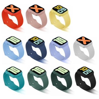 T.G Apple Watch 44mm 素色鋼化膜錶框+錶帶組(11色)