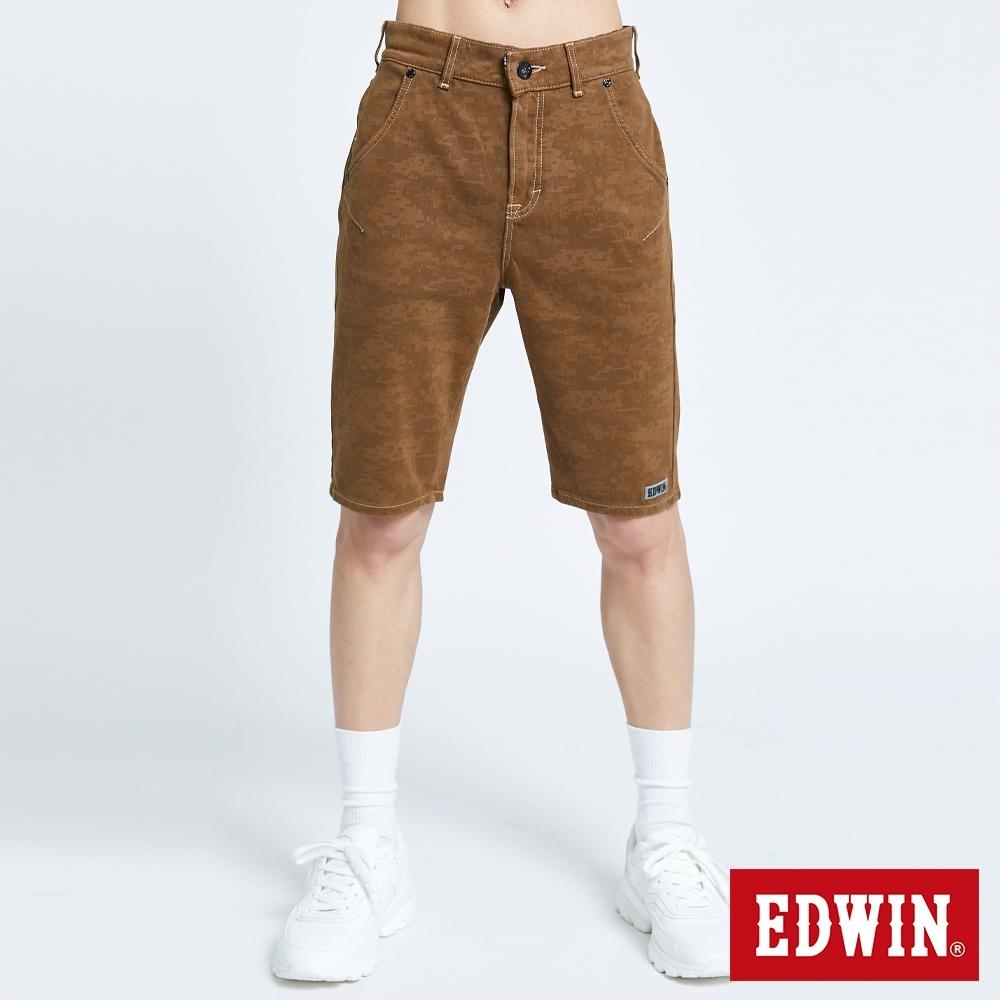 EDWIN JERSEYS 迦績 EJ2 棉涼感迷彩短褲-男-灰卡其