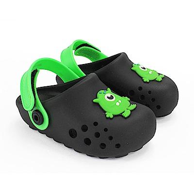 巴西品牌 巴西-幼童 布希鞋 LUNAR 黑綠色