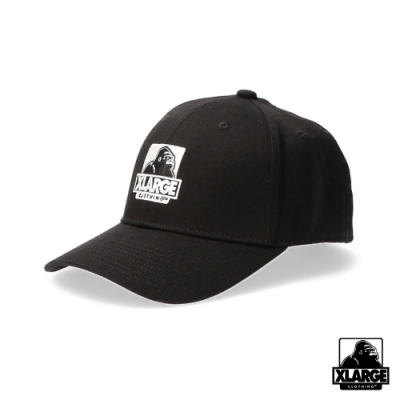 XLARGE EMBROIDERY OG 6PANEL CAP刺繡LOGO棒球帽-黑
