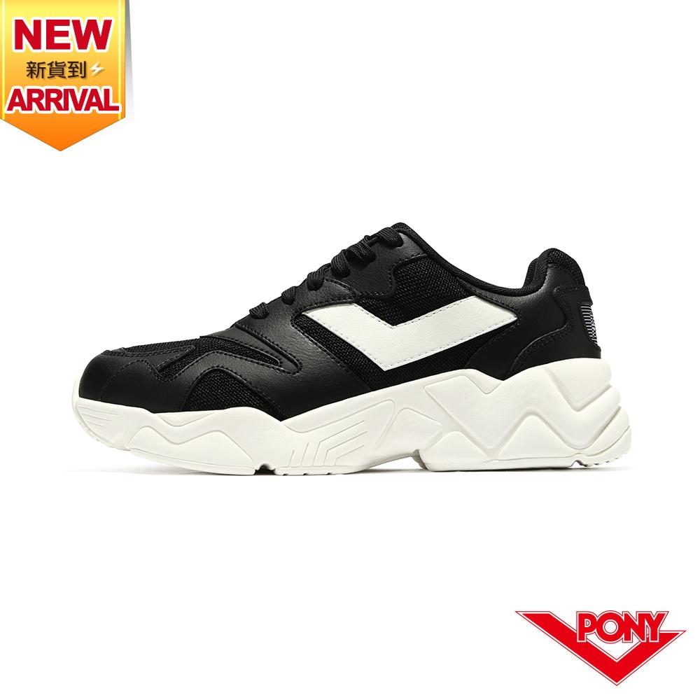 薔力推薦 買鞋送襪【PONY】MODERN 2 電光鞋 復古慢跑鞋 經典黑 女鞋-黑