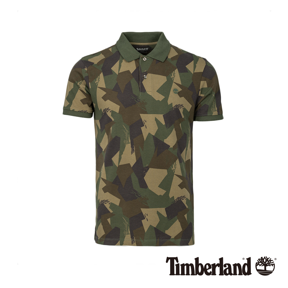 Timberland 男款迷彩印花短袖POLO衫|A1LZV