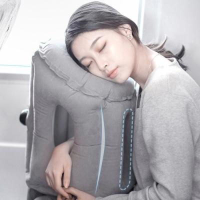升級按壓式充氣午睡旅行枕