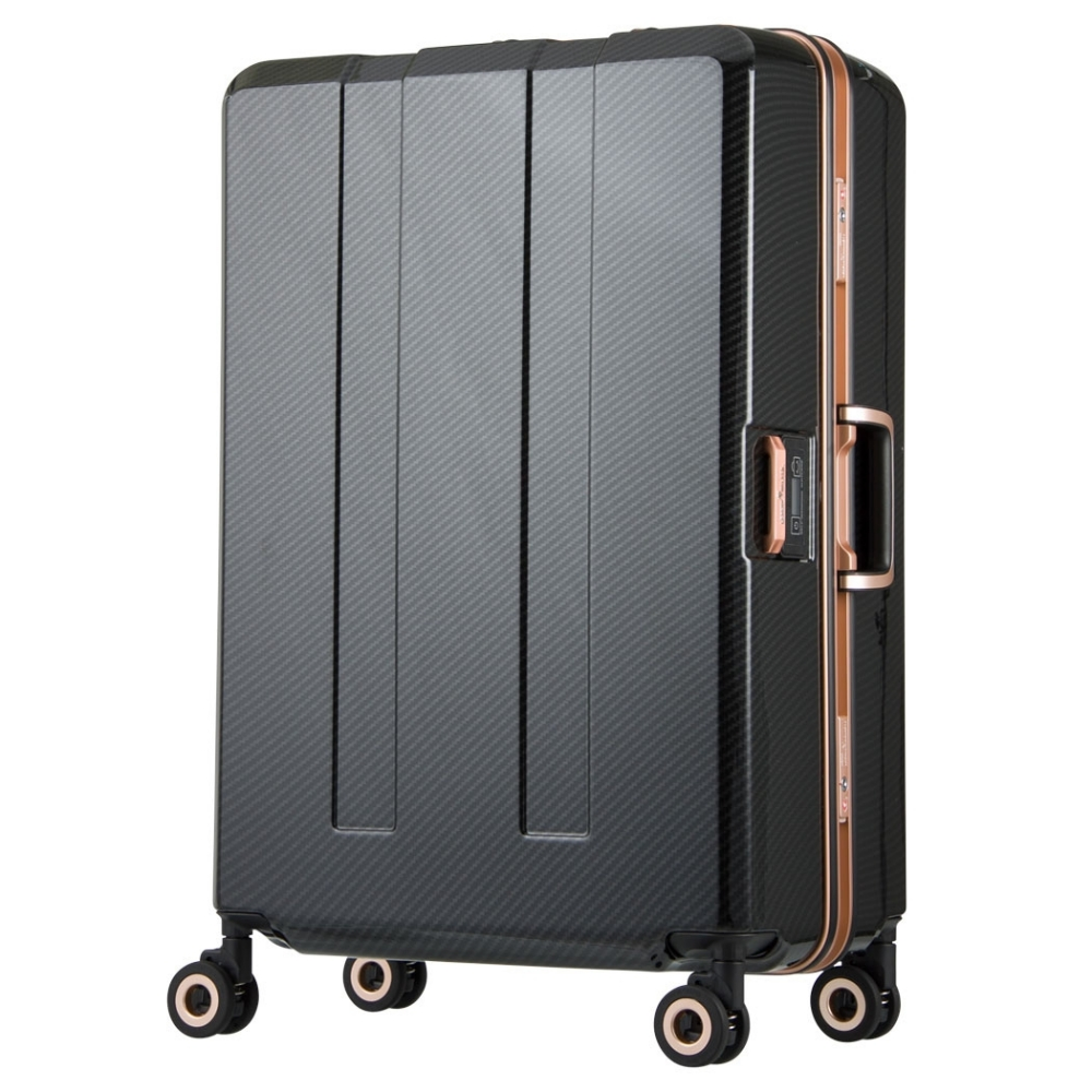 日本 LEGEND WALKER W6703N-70-29吋 寶貝輪秤重箱 碳纖曜石黑