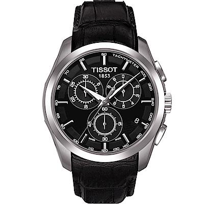 TISSOT天梭 Couturier 石英計皮帶時腕錶 T0356171605100