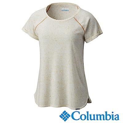 Columbia 哥倫比亞 女款-快排短袖上衣-卡其 UAR19980KI