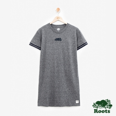 女裝ROOTS- 網眼布海狸洋裝-灰色
