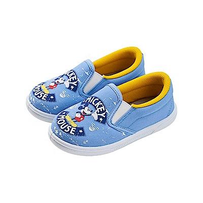 迪士尼 米奇 經典印花造型 休閒便鞋-藍