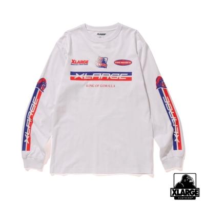 XLARGE L/S TEE RACING P.O.D長袖T恤-白