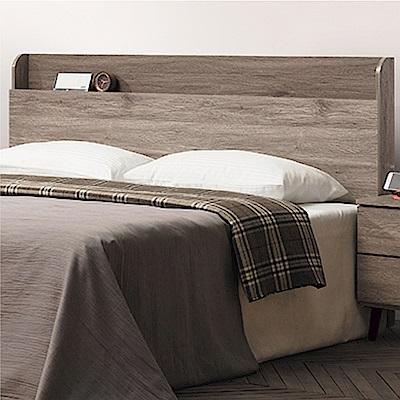 綠活居 海芙6尺木紋雙人加大床頭片(二色+不含床底)-182x14x106cm免組