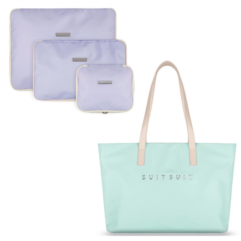 SUITSUIT Fabulous 尼龍旅行包-薄荷綠 贈送 盥洗包套組