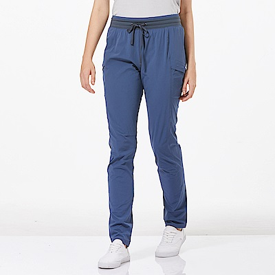 【HAKERS 哈克士】女 快乾彈性修身長褲-復古藍