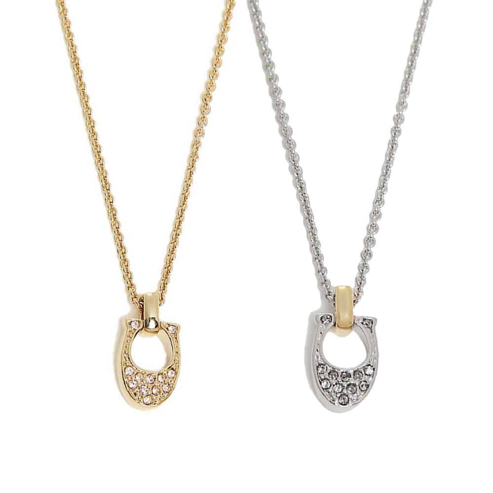 COACH 時尚水鑽C Logo鑲鑽飾項鍊(金/銀)COACH