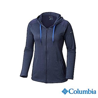 Columbia 哥倫比亞 女款-UPF50快排外套-深藍 UAL25360NY
