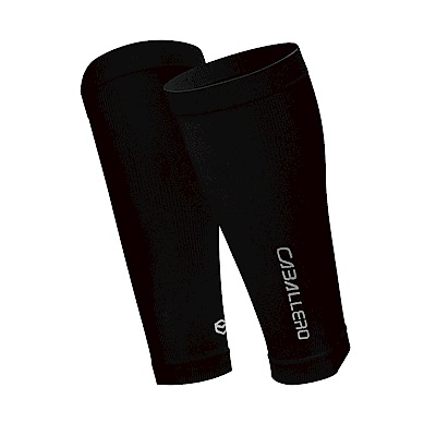 【CABALLERO】一體成型運動壓力腿套-黑