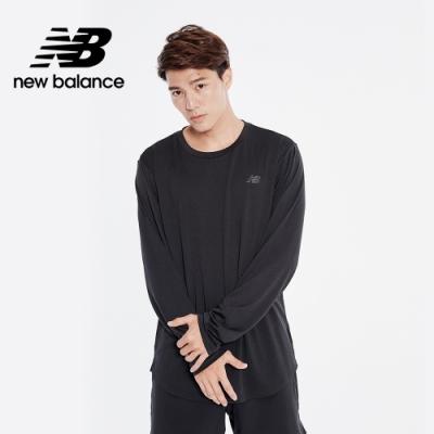 【New Balance】NB DRY 四面彈網眼長袖上衣_男性_黑色_MT01146BK