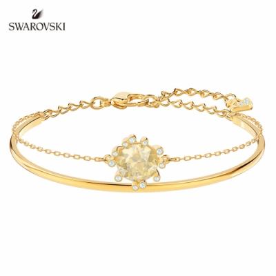 施華洛世奇 Olive 淡金色華麗悅目雙圈造型手環