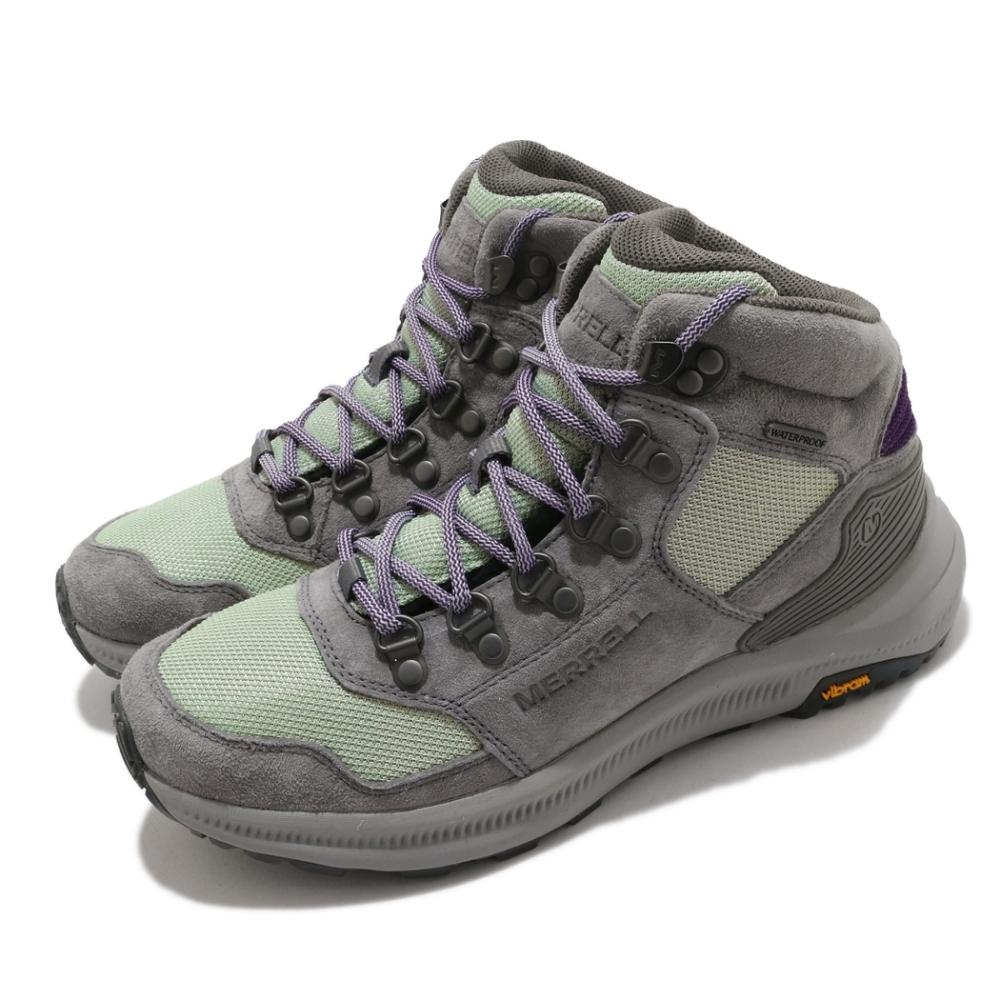 Merrell 戶外鞋 Ontario 85 Mesh 運動 女鞋 登山 越野 耐磨 黃金大底 防水 麂皮 灰 綠 ML500132