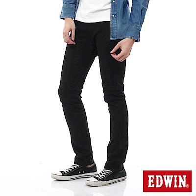EDWIN EDGE 乾爽COOL 窄直筒色褲-男-黑色