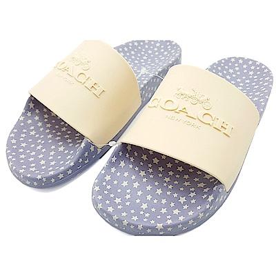 COACH 經典LOGO 滿版星星 PVC防水拖鞋