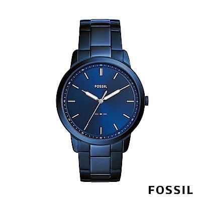 FOSSIL Minimalist 簡約設計腕錶-藍