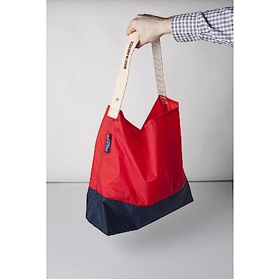 美國July NIne (大)壽司包 收納式時尚托特包 (肩背雙色版)正紅/深藍