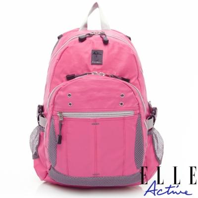ELLE Active 防水休閒風-後背包-粉紅色