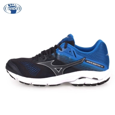 MIZUNO WIDE WAVE INSPIRE 15 SW 男慢跑鞋 黑藍