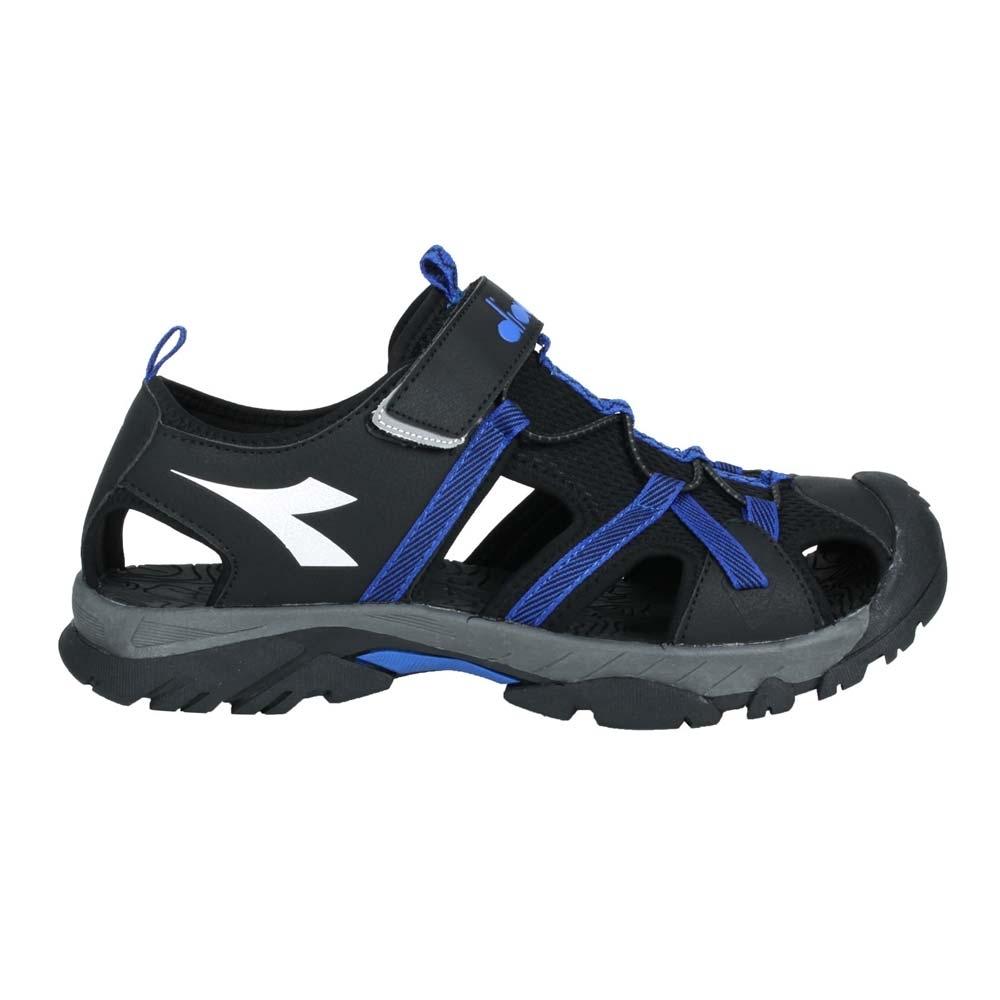DIADORA 男護趾運動涼鞋-魔鬼氈 健走鞋 水陸鞋 DA71196 黑藍銀