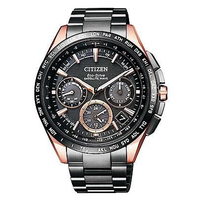 CITIZEN GPS衛星對時光動能鈦腕錶(CC9016-51E)-黑x玫瑰金