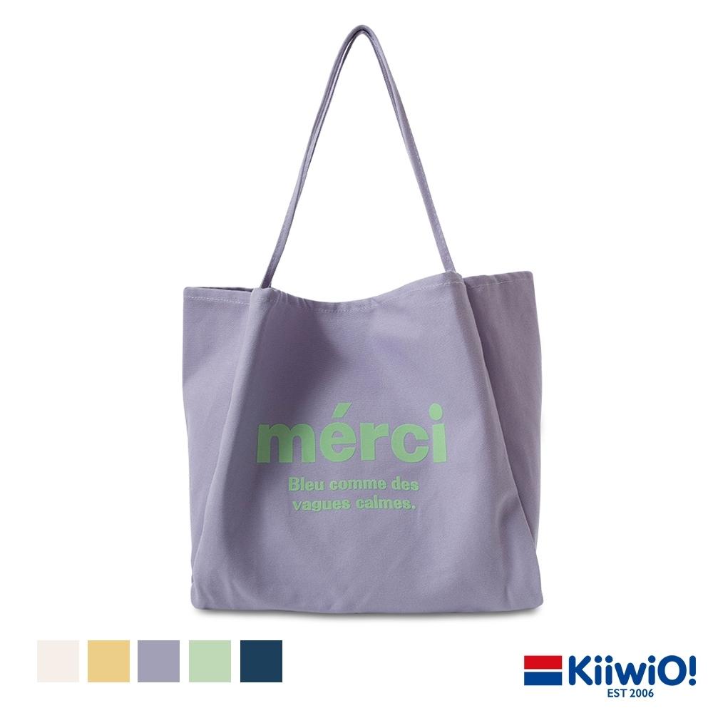 Kiiwi O! 糖果色百搭大容量帆布單肩包 MERCI (多色選)