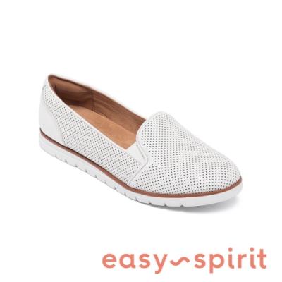Easy Spirit-seFELICE 羊皮百搭輕便休閒平底鞋-象牙色
