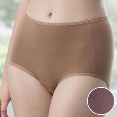 華歌爾-天絲竹炭 M-3L 中高腰三角褲 (紫)