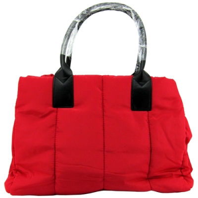 CLARINS克蘭詩 法式紅蕾輕羽絨手提包/肩背包