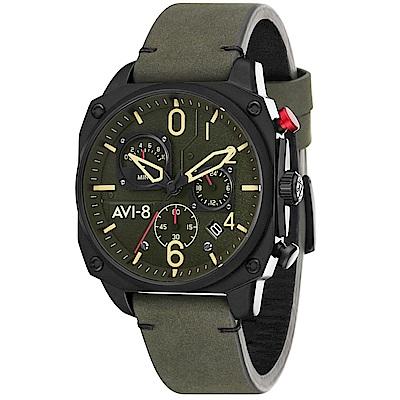 AVI-8 飛行錶 Hawker Hunter 帥氣手錶 - 綠/45mm