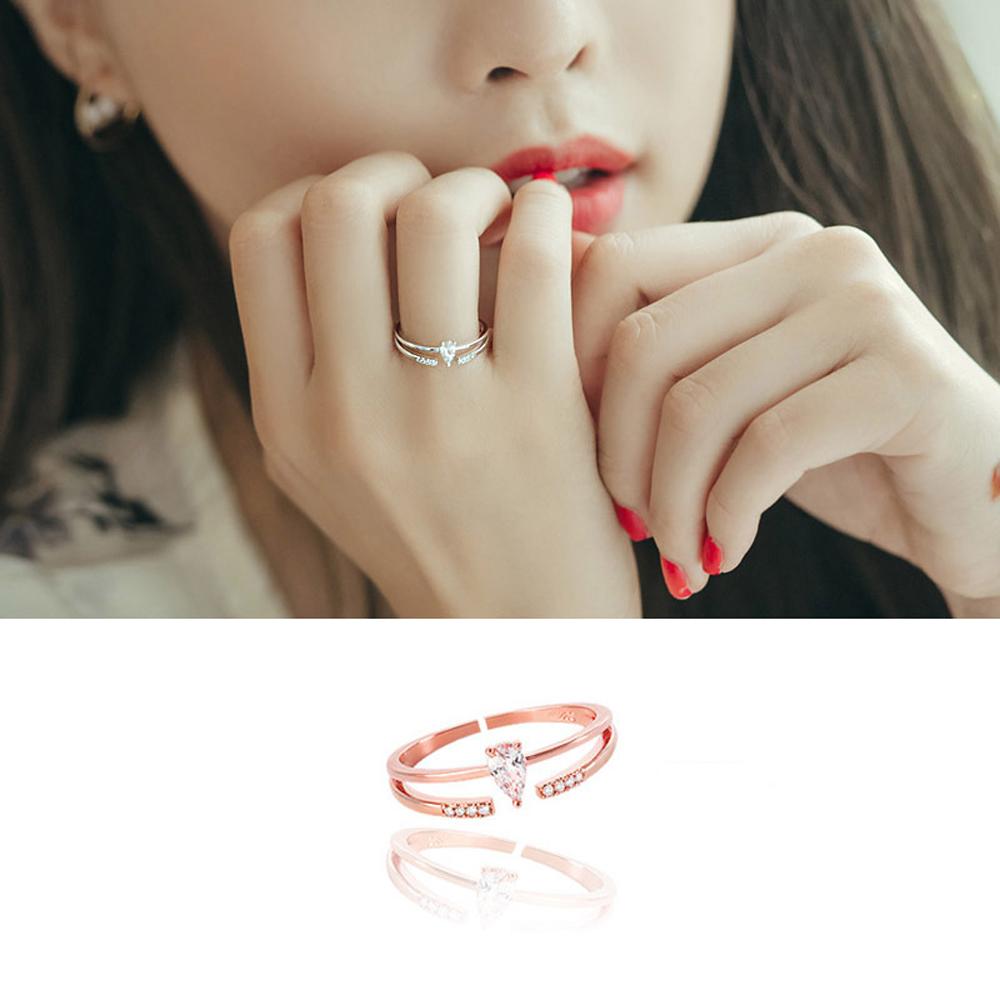 梨花HaNA 韓國925銀微鑲小美好鋯石戒指開口