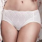華歌爾-摩奇X挺魔力系列M-3L中低腰三角褲(白)-性感蕾絲