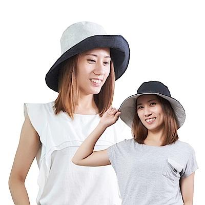 日本AUBE 雙面雙色可折疊抗UV遮陽帽