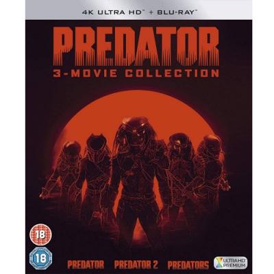 終極戰士 三部曲 4K  UHD+BD 六碟套裝版 Predator  藍光 BD