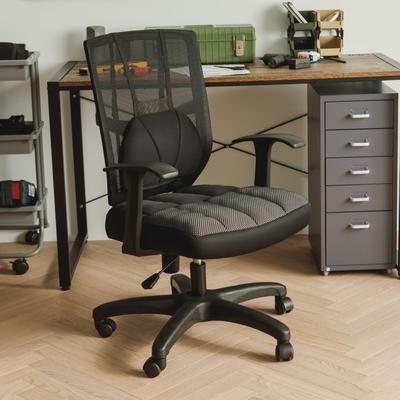 完美主義 立體T型扶手透氣厚墊電腦椅/辦公椅/主管椅(2色)