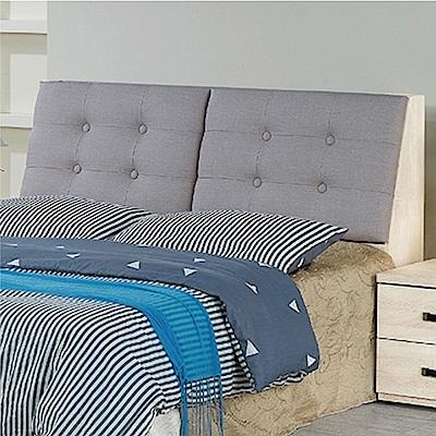 綠活居 尼拉5尺貓抓皮革雙人床頭箱(二色+不含床底)-152x27x97cm免組