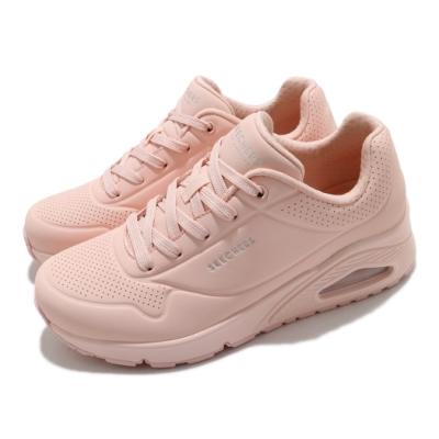 Skechers 休閒鞋 Uno-Frosty Kicks 女鞋 氣墊 靈活 支撐 能量回饋 增高 粉 155359LTPK