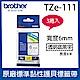 【3入組】brother 原廠護貝標籤帶 TZe-111 (透明底黑字 6mm) product thumbnail 1