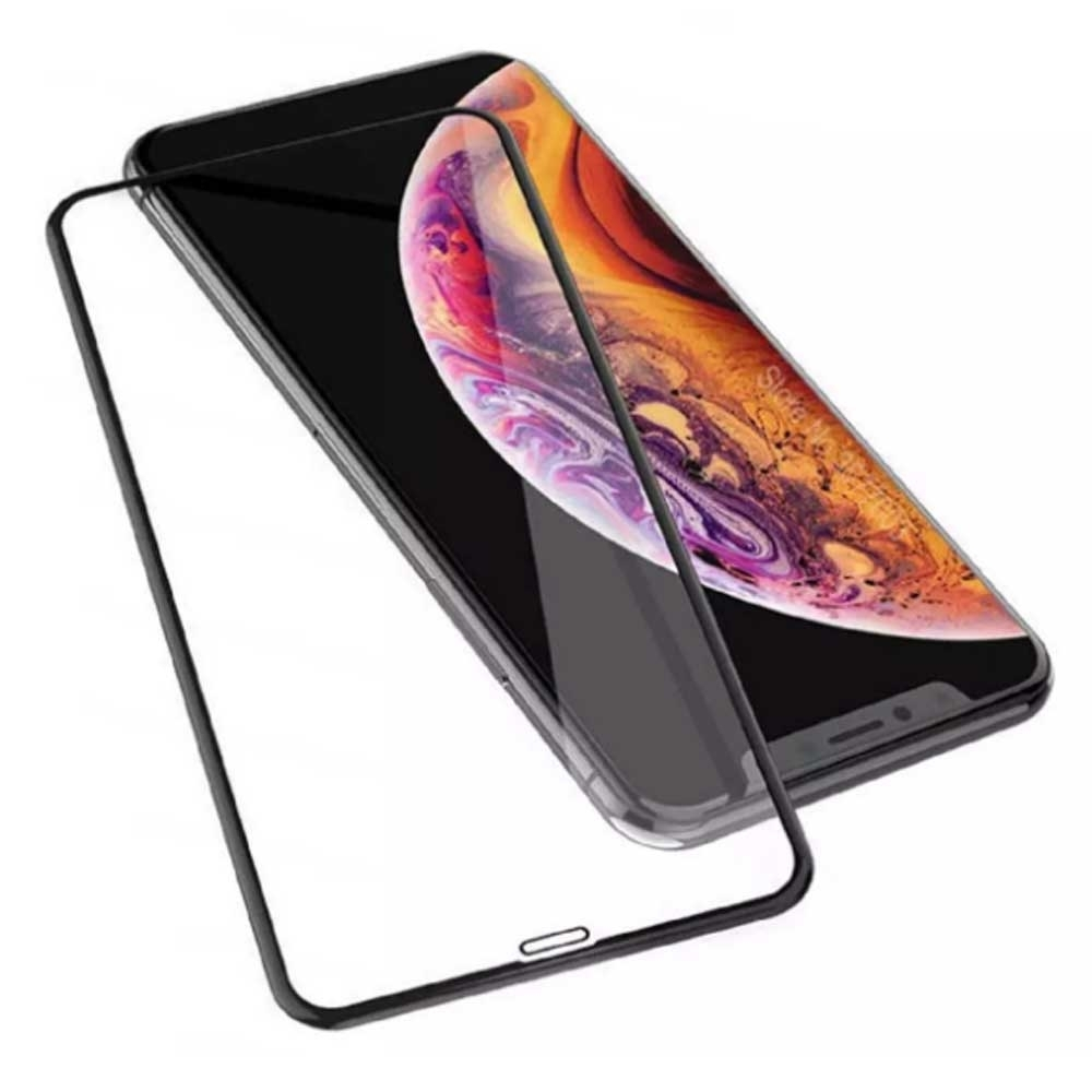 iPhone 11 Pro 5.8吋 5D冷雕滿版曲面全覆蓋 9H鋼化玻璃膜(贈迷你立架)