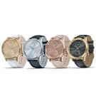 GARMIN vivomove luxe 指針智慧腕錶(皮革錶帶)