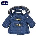 chicco-極地動物-山型紋活動帽舖棉外套