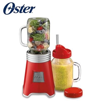 美國OSTER-Ball Mason Jar隨鮮瓶果汁機(紅)BLSTMM-BRD
